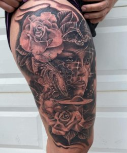 little savage tattoo leg tattoo 11-